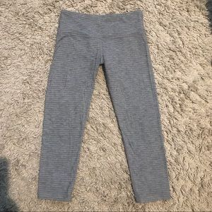 Lululemon Wunder Crop Under Grey Leggings